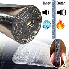 15 sqft Car Sound Deadener Mat Noise bonnet Insulation Deadening for Hood Engine Firewall Heat Material Aluminum Foam Sticker