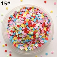 20g/lot Cute Fake Clay Sprinkles Colorful Heart Five Star Bow Candy Sprinkles for Crafts Making, DIY Cake Dessert Decoration