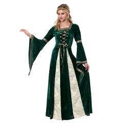 Brave Merida Dresses  Princess Merida Cosplay Costume Halloween mediaeval Costumes European medieval vintage court queen dress