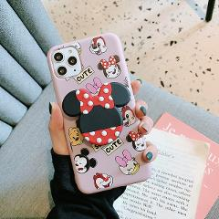 Hot Minnie mouse Holder Ring Soft Silicone phone case for iphone 6 plus 7 7plus 8 8plus X XS XR MAX 11 Pro Daisy back cover capa