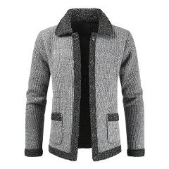 NEGIZBER 2019 Winter Cardigan Men Solid Patchwork Thick Warm Sweater Coats Men Fashion Wool Cashmere Sweater Men Winter Clothing