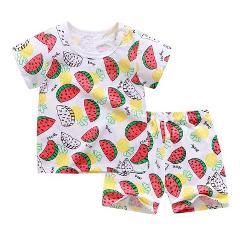 Clothes Baby 2pcs Suits Short Sleeve  Tshirt  Pants Boys Summer Clothes Sets Girls Kids T-shirt Boys  Summer Clothes Children