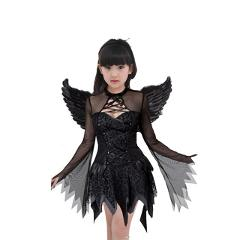halloween witch costume for girl vampire witch tutu dress with headband bat wings children child witch fancy dress Outfit 3pcs
