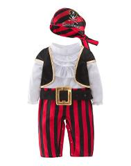 Pirates of The Caribbean Cosplay Costume for Baby Boys Party Clothes Pirate Captain for Christmas Halloween Costumes for Kids