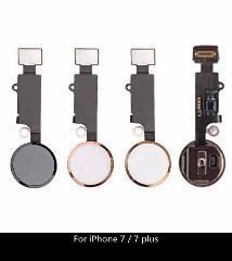 "Black White Gold New Home button Flex Cable for iPhone 7 4.7""/ 7plus 5.5"" Home Key Cap Button Assembly Flex Replacement Parts"