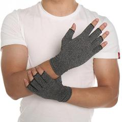 Hot 1 Pair Women Men Cotton Elastic Hand Arthritis Joint Pain Relief Gloves Therapy Open Fingers Compression Gloves