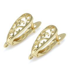 DIY Earrings Clasps Hooks for Woman Handmade Jewelry Making Accessories Fashion Design Hollow Earrings Hooks