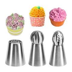VOGVIGO Pastry Nozzles for cream Pastry Accessories Icing Piping Nozzles Pastry Bag Nozzles 304 Stainless Steel Cake Decorating