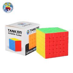 [Kathrine Cube Tank Six Rubik's] 6-Order Smooth Rubik's Cube Solid Color Bright Color on Behalf of Wholesale 3C Certification