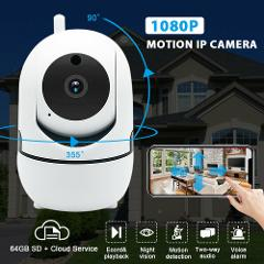 1080P WIFI P2P Wireless ONVIF IP Camera IR Night Vision CCTV Home Security PTZ
