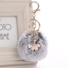Fairy Keychain Cute Dancing Angel Keychain Pendant Women Key Ring Holder Pompoms Key Chains fashion gifts for lady