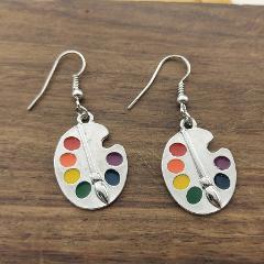 2019 New Palette Earrings Silver Earrings Artist Earrings Wonderful Silver Bright Artist Palette Earrings