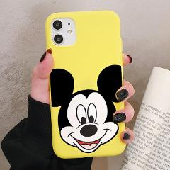 Cartoon Mouse Phone Case for iPhone 11 Pro XR X Xs Max 8 7 6 Plus 6S 5S SE Frosted Silicone Cases Soft Back Cover