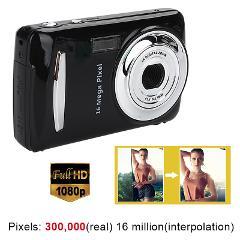 Ultra Photo Camera 16MP Ultra-clear HD Digital Camera DVR 1080P Mini HD Camera Precise Video Recorder Camera DVR Black