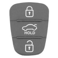 Replacement Silicone Rubber Pad 3 Buttons Key Shell for Hyundai Kia Flip Remote Auto Car Key Fob Case Cover