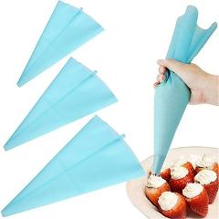 Silicone Pastry Bag Reusable Cream Icing Piping Cookie Cake Decorating DIY Tool
