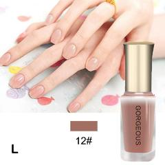 Gorgeous Color Art Pure Colors Semi Permanent Lacquer Top Base Coat Colorful Art Gel Quick-drying Translucent Jelly Nail Polish