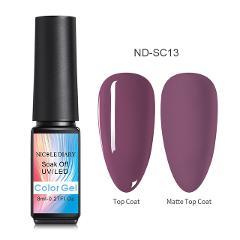NICOLE DIARY Rose Gold Nail Gel Glitter LED UV Gel Manicure Sequins Soak Off Gel Nail Polish Vernis Semi Permanent Gellak