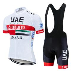 New 2019 UAE Cycling team Clothing Bike jersey 9D gel pads shorts set mens Quick Dry pro BICYCLING Maillot Culotte wear