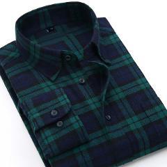 Quality Warm Autumn Winter Flannel Plaid Shirt Red Checkered Shirt Men Shirts Long Sleeve Chemise Homme Cotton Dress Shirts
