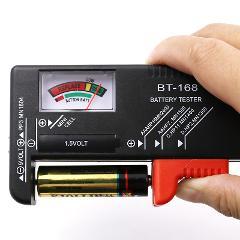 BT-168 AA/AAA/C/D/9V/1.5V batteries Universal Button Cell Battery Colour Coded Meter Indicate Volt Tester Checker BT168 Power
