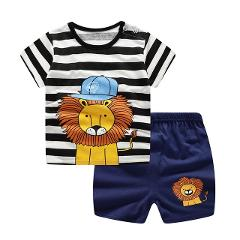 Boys Gilrs Clothing Cartoon Costume Short Sleeve Pijamas 2019 Summer Kids Pajamas Baby  children Sleepwear Pajamas Sets