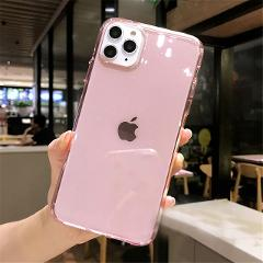 Lovebay Transparent Glitter Candy Color Phone Case For iPhone 11 Pro X XR XS Max 7 8 6 6s Plus Shockproof Clear Soft Back Cover