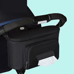 Solid Color Stroller Bag Organizer Large Capacity Mom Travel Hanging Bag Carriage Pram Cart Yoya Diaper Bag Stroller Accessories