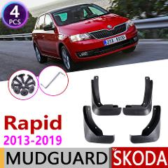Mudflap for Skoda Rapid Spaceback Hatchback 2013~2019 Fender Mud Guard Splash Flap Mudguard Accessories 2014 2015 2016 2017 2018