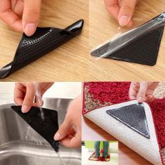 4 X Carpet Pad Non Slip Tri Sticker Anti Slip Mat Pads Anti Slip 2019 new Anti Slip floor mats for living rooms Silicone 626