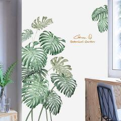 2PC DIY Tropical Beach Palm Leaves Wall Sticker Modern Art Decal Vinyl  Wall Stickers For Kids Rooms Home Decor Wall Sticker