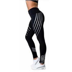 Yoga Pants Women Reflective Tight Sports Leggings High Waist Fitness Seamless Leggings For Running Jogging Gym Sportswear