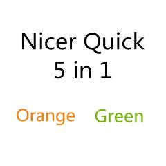 5 in 1 Nicer Quick Orange And Green
