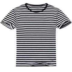 Stripe T Shirt 2020 Men Casual T-Shirt Short Sleeve Summer Hip Hop Tshirt Streetwear Casual Tops Tees Black White