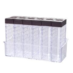 Kitchen Box Seasoning Bottles Storage Boxes Kitchen Items Storage Container Spice Lid Can Sugar Storage Organizer for Seasoning