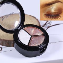 3 Colors  Baked Glitter Eyeshadow Shimmer Matte Brown Smoky Metallic Makeup Eye Shadow Shining Festival Cosmetic Maquillaje #H