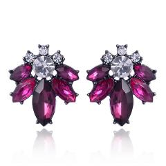 LUBOV 2019 Crystal Flower Drop Earrings for Girls Bohemian Party Cute Gift Dangle Earrings Women Wedding Trendy Jewelry