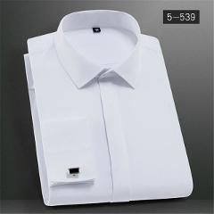 Men's Classic French Cuffs Solid Dress Shirts Placket Formal  Men Long Sleeve Shirts Slim Fit Quality French Cuffs Shirt