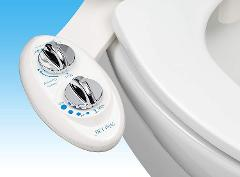Luxe Bidet Neo 120 - Self Cleaning Nozzle - Fresh Water Non-Electric Mechanical Bidet Toilet Attachment (white and white)