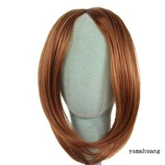 MUMUPI Short Inclined In Side Bangs Oblique Female Pretty Girls On Clip In Front Hair Bang Fringe Hair Extension Piece Headwear