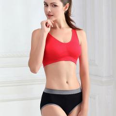 Women Seamless Bra Fitness Yogi Vest Underwear Padded Crop Tops Underwear 7 Colors No Wire-rim Bras Plu size