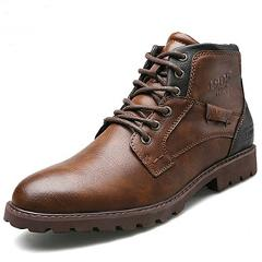 Classic Brand Men's Boots Italy Handmade Men Ankle Boots Outdoor Waterproof Male Basic Work Shoes Autumn Lace-UP Man Moccasins