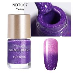 NICOLE DIARY Thermal Nail Polish Glitter Temperature Color Changing Water-based Manicure Varnish Shinny Shimmer Nail Lacquer