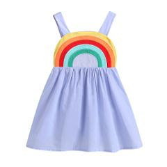 Toddler Baby Girls Dress Newborn Infant Girls Rainbow Dress Party Birthday Dresses For Baby Girl Clothes