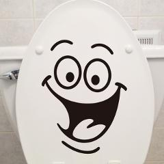 1 Pcs Toilet Bathroom Creative Waterproof stickers Toilet Sticker Wall Sticker Funny Explosion Models Bathroom Decor Home Decor