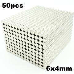 50pcs 6x4mm Super Powerful Strong Bulk Small Round NdFeB Neodymium Disc Magnets Dia 6mm x 4mm N35  Rare Earth NdFeB Magnet