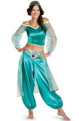 2019 Women's girls Halloween Cosplay Party Belly Dance Aladdin Princess Jasmine Costume Adults fashion costumes for women Dress