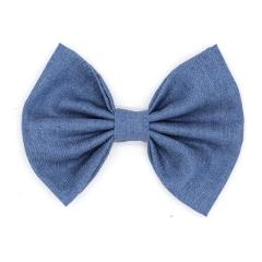 Retail 1PC 5'' Big Cute Denim Hair Bows WITH Clips,Messy Hair Bow Clips For Children Headband, Baby Hair Accessories