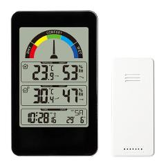 Home Thermometer Office Gauge Comfort Indication Digital Display Accurate Electronic Hygrometer Weather Station Alarm Clock