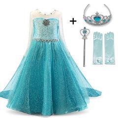 Cosplay Queen Elsa Dresses Elsa Elza Costumes Princess Anna Dress for Girls Party Vestidos Fantasia Kids Girls Clothing Elsa Set